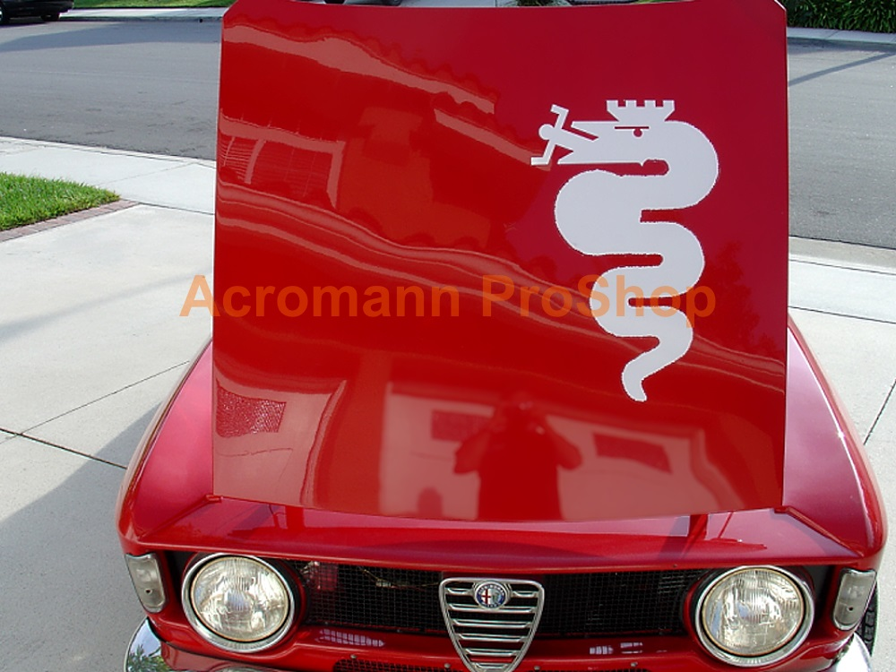 Alfa Romeo Snake (Serpent) Bonnet Decal (Style#1) x 1 pc
